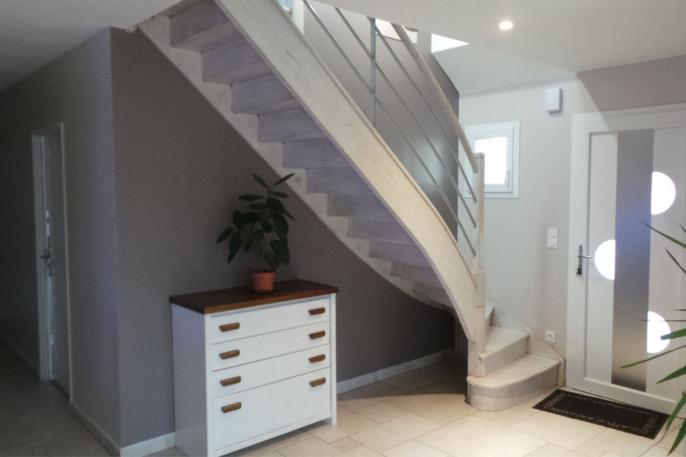 Escalier Bois et Inox