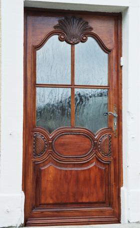Porte d'entrée grand vitrage